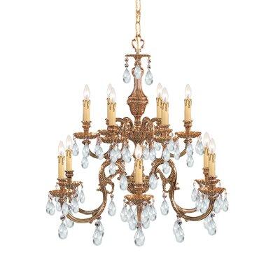 Olde World 12-Light Crystal Chandelier Crystal Type: Swarovski Strass