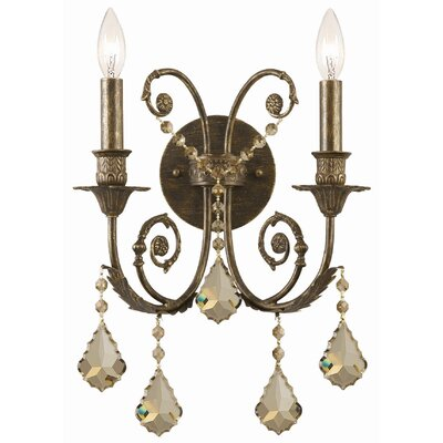 Crystorama Traditional Classic Crystal Candle Wall Sconce in ...