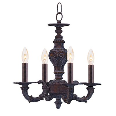 Theroux Contemporary 4-Light Candle-Style Chandelier
