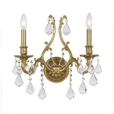 Crystorama Yorkshire Candle Wall Sconce in Aged Brass | Wayfair