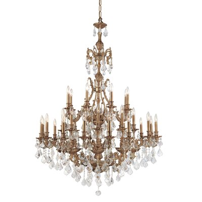 Yorkshire 24-Light Crystal Chandelier Crystal: Hand Polished