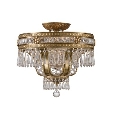 Markenfield Crystal 6-Light Semi Flush Mount