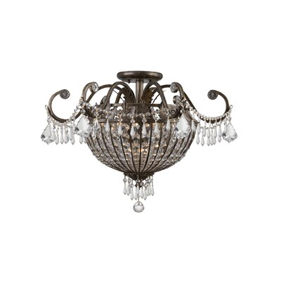 Markenfield Crystal 6-Light Semi Flush Mou