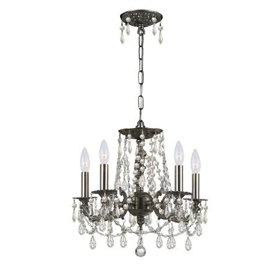Mirabella 5-Light Shaded Chandelier Finish: Pewter