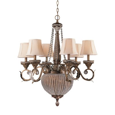 Roosevelt 8-Light Shaded Chandelier