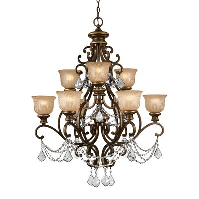 Tusten 9-Light Shaded Chandelier Crystal Type: Swarovski Spectra