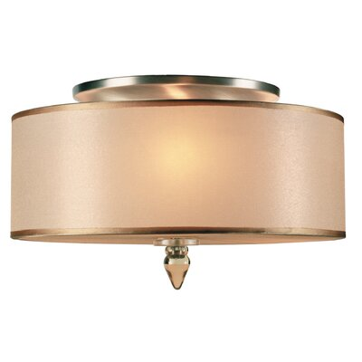 Luxo 3-Light Semi Flush Mount Finish: Antique Brass