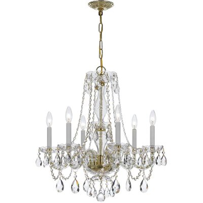6-Light Crystal Chandelier Crystal Grade: Hand Cut