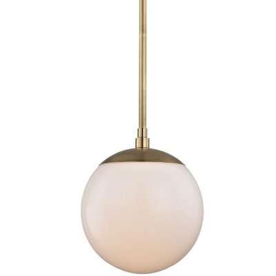 Conrad 1-Light Glass Globe Pendant Finish: Aged Brass
