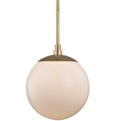 Conrad 1-Light Globe Pendant Finish: Aged Brass