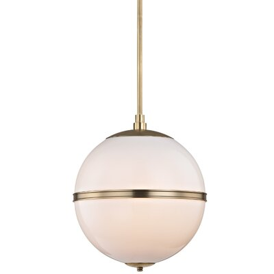Conrad 3-Light Glass Globe Pendant Finish: Aged Brass