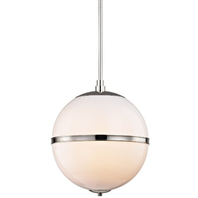 Conrad 3-Light Glass Globe Pendant Finish: Polished Nickel