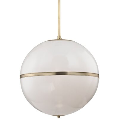 Conrad 3-Light Globe Pendant Finish: Aged Brass
