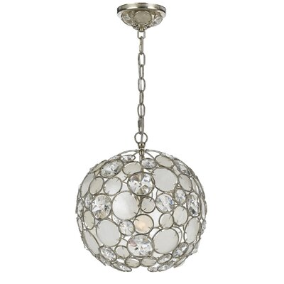 Fonville Globe Pendant Size: Small, Finish: Antique Silver