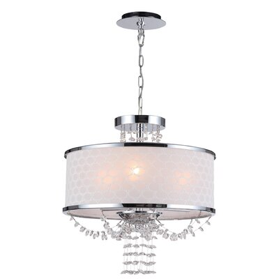 Beauford 3-Light Drum Chandelier