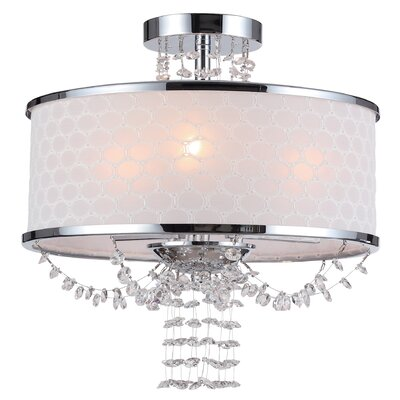 Beauford 6-Light Chrome Semi-Flush