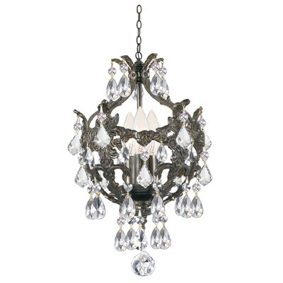 Weigle 3-Light Crystal Chandelier Crystal Grade: Swarovski Strass