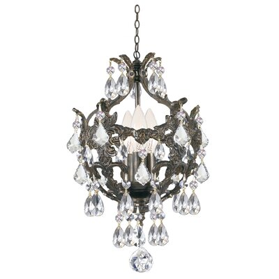 Weigle 3-Light Crystal Chandelier Crystal Grade: Swarovski Spectra
