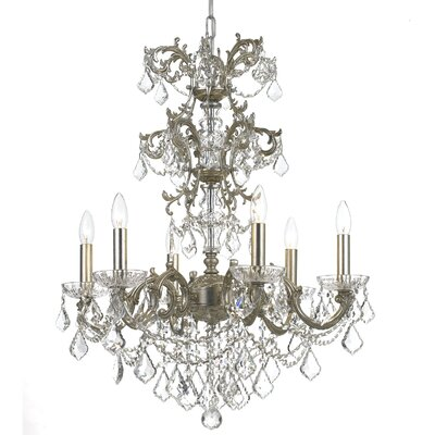 Weiland 6-Light Candle-Style Chandelier Crystal Grade: Swarovski Strass