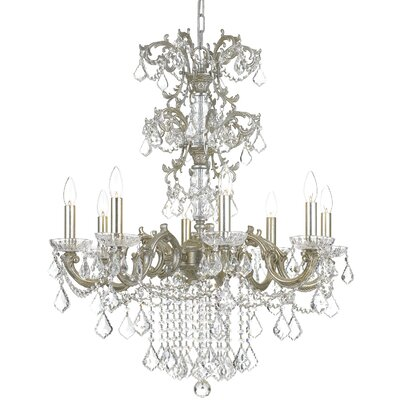 Weiland 8-Light Candle-Style Chandelier Crystal Grade: Majestic Wood Polished