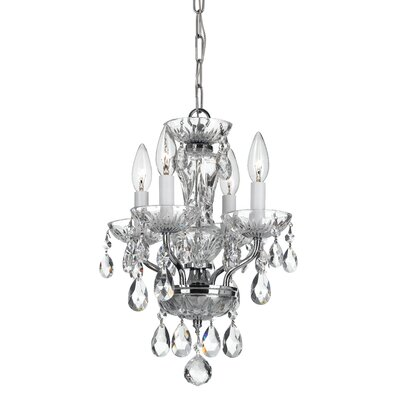Weigel 4-Light Mini Chandelier Finish: Chrome, Crystal Grade: Swarovski Strass