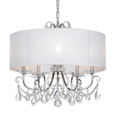 Shreyas 5-Light Drum Chandelier Crystal Grade: Swarovski Strass