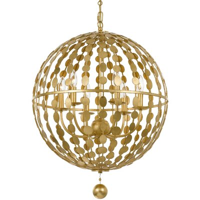 Additri 6-Light Globe Pendant Finish: Antique Gold