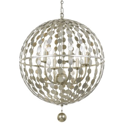 Additri 6-Light Globe Pendant Finish: Antique Silver
