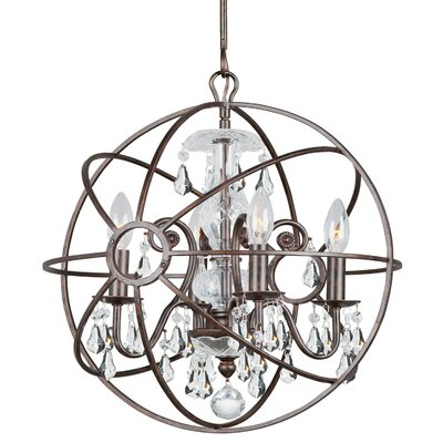 Charleston 4-Light Globe Pendant Finish: Bronze