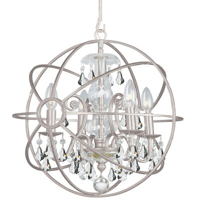 Charleston 4-Light Globe Pendant Finish: Silver