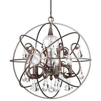 Charleston 5-Light Candle-Style Chandelier Finish: Bronze
