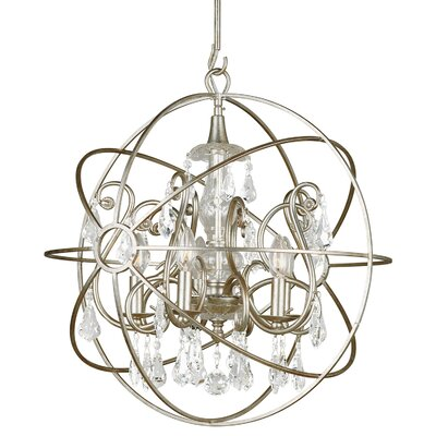 Charleston 5-Light Candle-Style Chandelier Finish: Silver