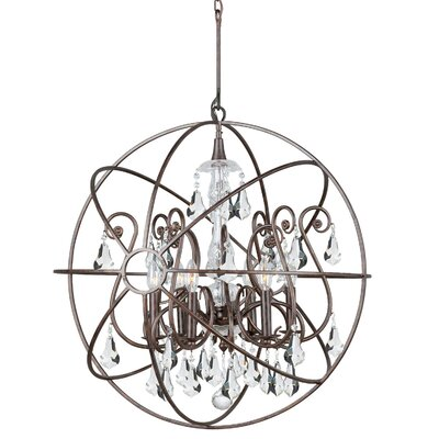 Charleston 6-Light Candle-Style Chandelier Finish: Bronze