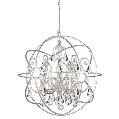 Charleston 6-Light Candle-Style Chandelier Finish: Silver
