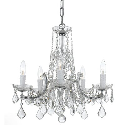 Claughaun 5-Light Crystal Chandelier