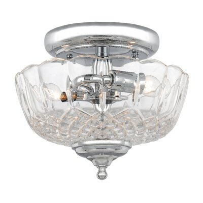 Minerva 2-Light Semi Flush Mount