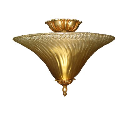 Titusville 2-Light Semi Flush Mount