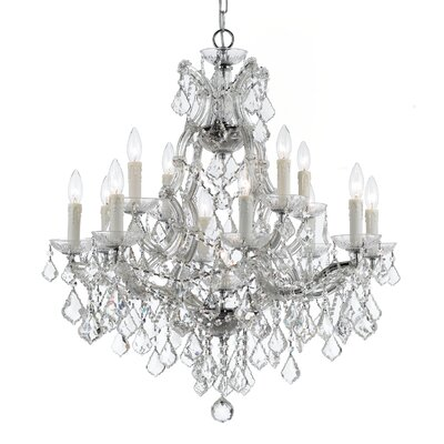 Marianne 13-Light Crystal Chandelier Finish: Chrome