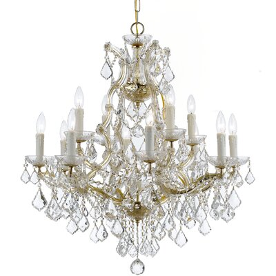 Marianne 13-Light Crystal Chandelier Finish: Gold