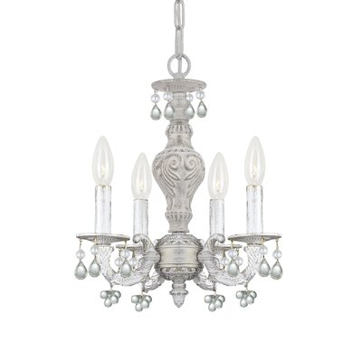 Octavia 4-Light Candle Style Chandelier Finish: Clear