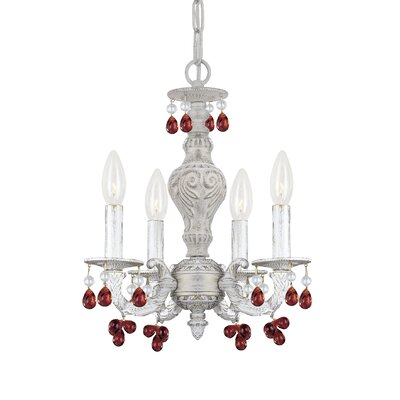 Octavia 4-Light Candle Style Chandelier Finish: Amber
