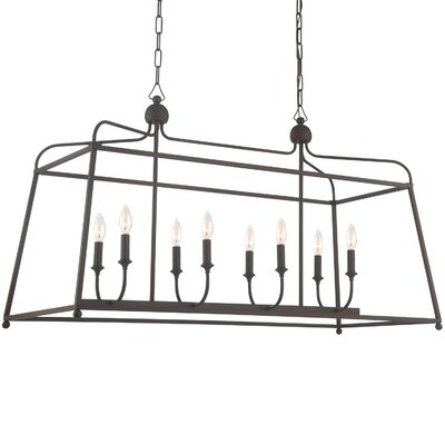 Adjei 8-Light Kitchen Island Pendant Finish: Dark Bronze
