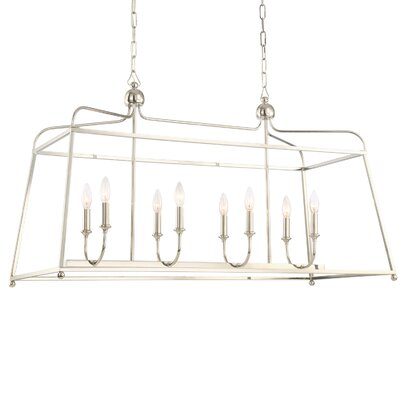 Adjei 8-Light Kitchen Island Pendant Finish: Polished Nickel