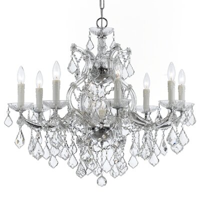 Sagamore Swarovski Spectra 9-Light Crystal Chandelier Finish: Chrome