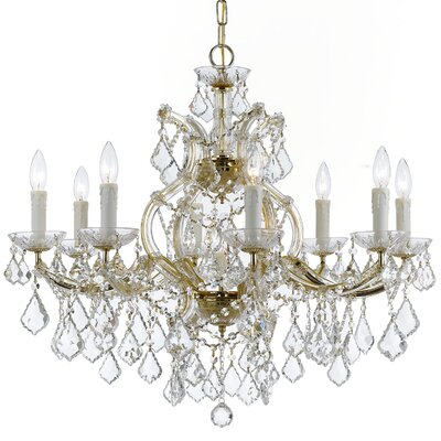 Sagamore Swarovski Strass 9-Light Crystal Chandelier Finish: Gold
