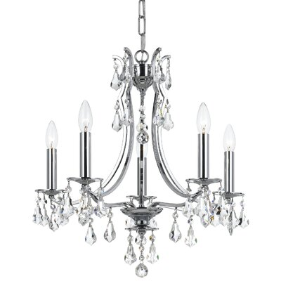 Sanford Swarovski Strass 5-Light Candle-Style Chandelier