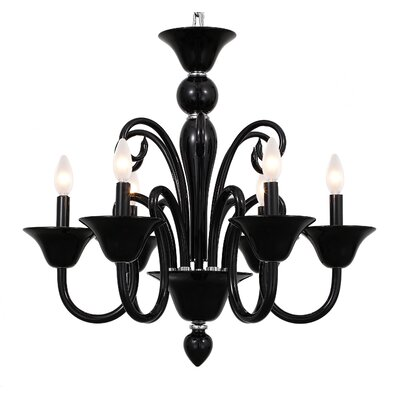 Hickman 6-Light Candle-Style Chandelier