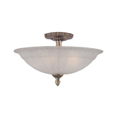 Charleston 5 Light Semi Flush Mount
