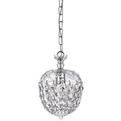 Celia 1-Light Pendant Size: 48.5 H x 8 W