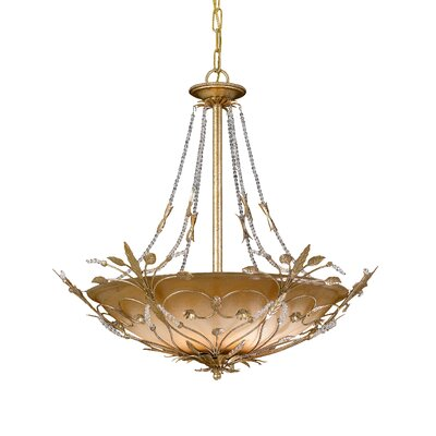 Shadwell 6-Light Crystal Chandelier Finish: Gold Leaf